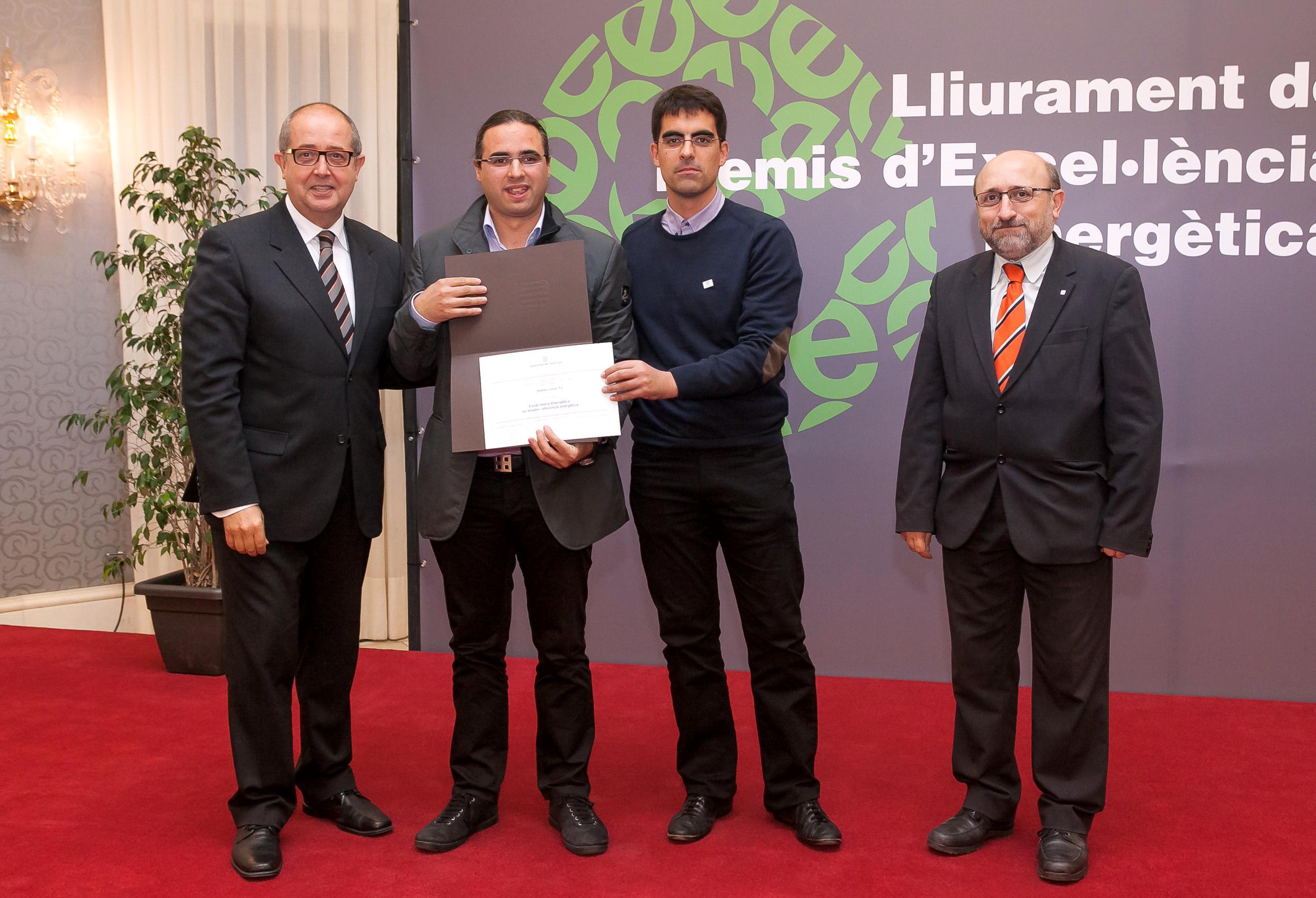Wattia Innova guardonada als Premis Excel·lencia Energètica